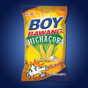 Boy Bawang Chichacorn Super Garlic 40 x 100g