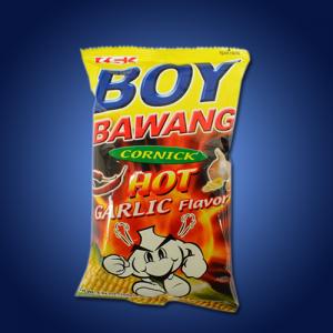 Boy Bawang Corn Snack Garlic Hot 40 x 100g